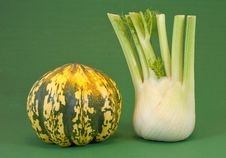 Fennel And Pumpkin Stock Photo