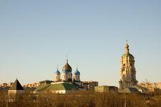 Free Novospassky Monastery At Sunset Stock Image - 19069811