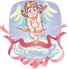 Free Naked Cupid With An Arrow Stock Image - 19069841