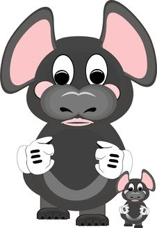 Free Squiggly Mouses, Cartoon Animals.. Royalty Free Stock Image - 19069996