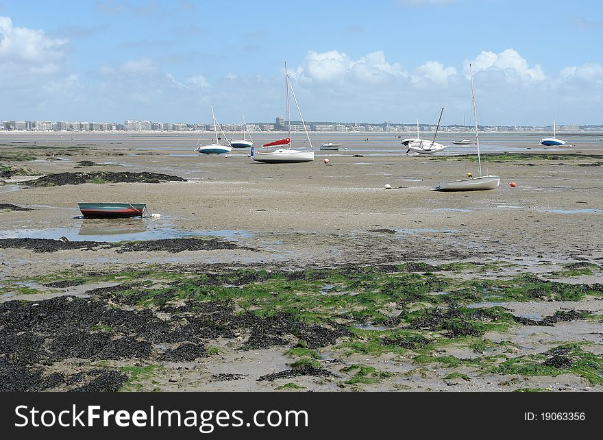 Boats and ebb tide
