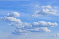 Fluffy Clouds Royalty Free Stock Photo
