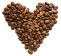 Free Heart Symbol Made From Coffee Beans Royalty Free Stock Image - 19070526