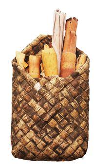 Free Rols Of Birchen Bark In The Basket Stock Photos - 19070253