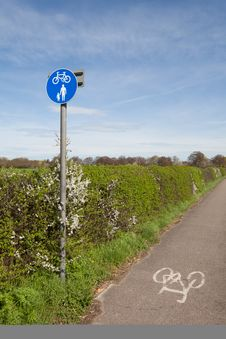 Countryside Cycle Lane Royalty Free Stock Images