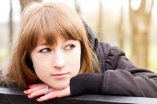 Single Young Woman Outdoor Royalty Free Stock Photo