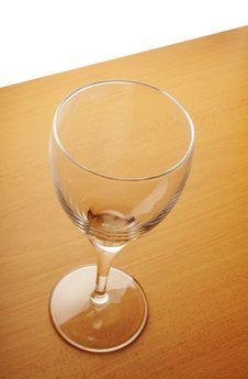 Empty Glass On The Wooden Table Royalty Free Stock Photo