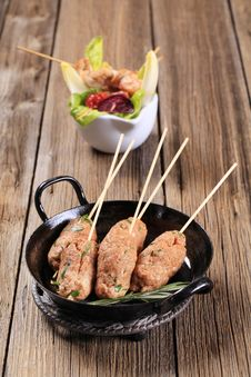 Free Minced Meat Kebabs Royalty Free Stock Image - 19071326