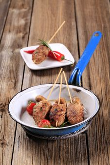 Minced Meat Kebabs Stock Photo
