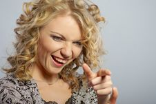 Beautiful Curly Blonde Girl Stock Photography