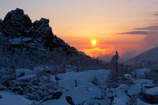 Free Sunrise In Mountains. Stock Photo - 19071700