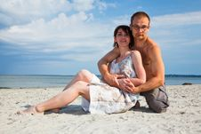 Free Couple On The Beach Royalty Free Stock Image - 19071706