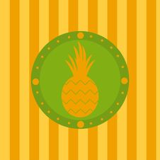 Free Cute Pineapple Background Royalty Free Stock Images - 19072069