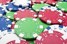 Free Poker Chips Background Stock Photography - 19072592