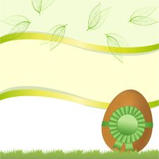 Easter Card With Egg And Tape Stock Image