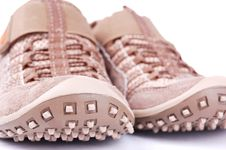 Brown Trainers Royalty Free Stock Photos