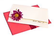 Free Proposal Letter With A Flower Royalty Free Stock Photo - 19074165