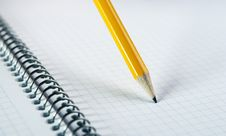 Free Yellow Pencil On Blank Notebook Royalty Free Stock Photo - 19074635