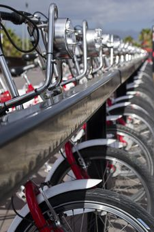 Free Parked Bicycles Stock Images - 19075174