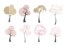 Free Symbol Set Tree Royalty Free Stock Image - 19075346