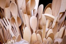Free Wooden Spoons Stock Photo - 19075580