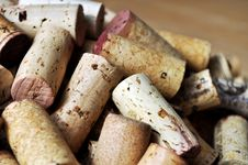 Pile Of Corks Without Brand Names Royalty Free Stock Photos