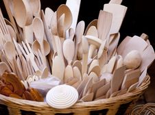 Free Wooden Spoons Stock Image - 19075611