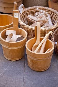 Free Wooden Spoons Royalty Free Stock Photo - 19075795