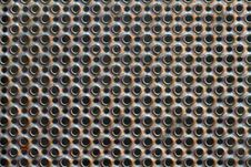 Free Round Perforated Metal Plate Texture Stock Image - 19076151