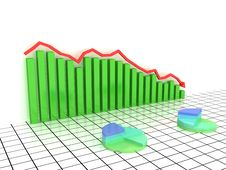 Free Economic Graph Of Incidence Of The Green Boxes Stock Photography - 19077302