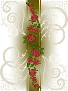 Free Vertical Band With Roses Stock Photography - 19077372
