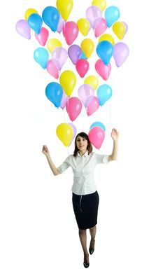 Free Woman With Balloons Stock Image - 19077681