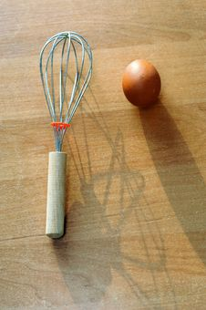 Free Egg And Whisk Stock Photography - 19077752