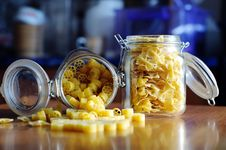 Free Pasta In Jars Royalty Free Stock Image - 19077786