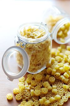 Free Pasta In Jars Stock Image - 19077801