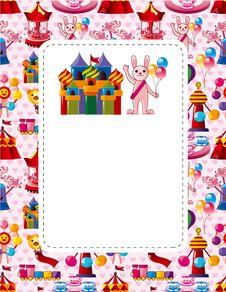 Free Cartoon Playground Card Stock Photo - 19077980