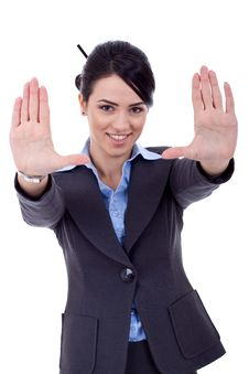 Showing Framing Hand Gesture Royalty Free Stock Images