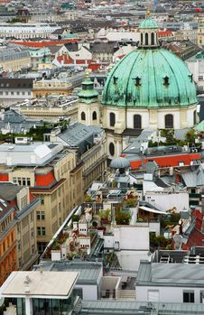 Free Cityscape Of Vienna With St. Peter S Church Royalty Free Stock Photography - 19078287