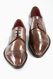 Free Brown Leather Shoes Royalty Free Stock Photography - 19078387