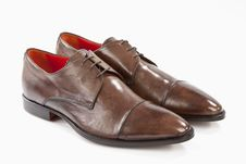Free Brown Leather Shoes Royalty Free Stock Photography - 19078397
