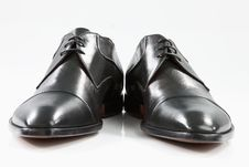 Free Black Leather Shoes Royalty Free Stock Photo - 19078425