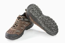 Free Brown Trekking Shoes Royalty Free Stock Photos - 19078438