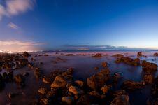 Free Beach Shot By Night - Long Exposure Stock Photo - 19078900