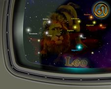 Free Constellation Leo Royalty Free Stock Photos - 19079108
