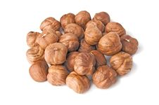 Handful Of Kernels Hazelnut Royalty Free Stock Photos
