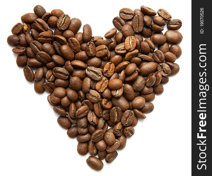 Heart Symbol Made From Coffee Beans Free Stock Images Photos