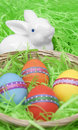 Free Easter Eggs And Rabbit Royalty Free Stock Image - 19085356