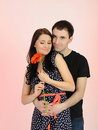 Free Lovely Romantic Couple With Flower Stock Photography - 19088732