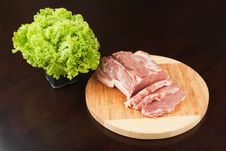 Free Meat And Lettuce Stock Images - 19081394