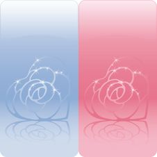 Free Banners With Heart Shaped Roses Stock Photography - 19082562